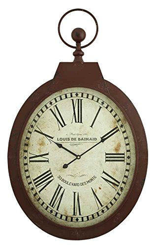 Aspire 5681 Louis Oval Wall Clock, Red