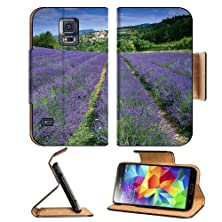 buy Flowers Fields France Lavender Village Samsung Galaxy S5 Sm-G900 Flip Cover Case With Card Holder Customized Made To Order Support Ready Premium Deluxe Pu Leather 5 13/16 Inch (148Mm) X 2 1/8 Inch (80Mm) X 5/8 Inch (16Mm) Msd S V S 5 Professional Cases Ac