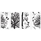 Lot 26 Studio ADD-HERES Wall Decals, Silhouette Tree, 30 x 45-Inches