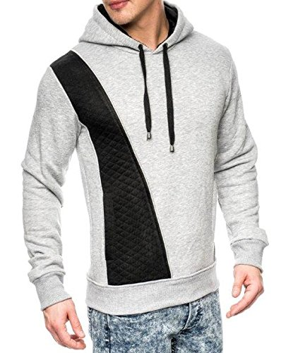 Jeansnet Longsleeve Kapuzenpulli JN-2011 im Slim Fit Style für den modischen Mann jetzt bestellen