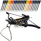 Crossbow Pistol with Bolt Rack Self-Cocking 80 LBS by KingsArchery® with Adjustable Sights