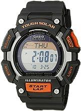 Casio Men39s STL-S110H-1ACF Tough Solar Runner Digital Display Quartz Black Watch