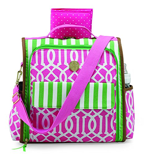 Mud Pie Back Pack, Pink/Green - 1