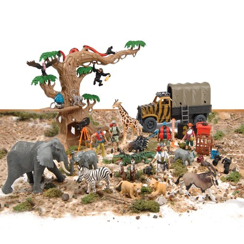 Animal planet jungle fortress tree house playset for Classic jungle house for small animals
