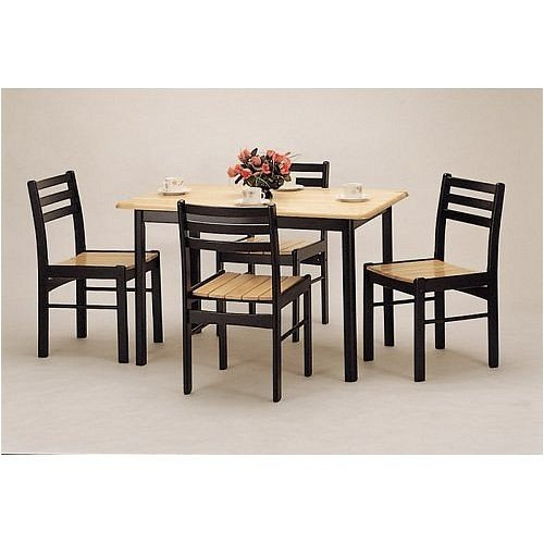 Buy Low Price Coaster 5 Piece Butcher Block Dinette Set By Coaster Furniture (VF_AZ01-13239)