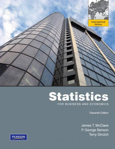 Statistics for Business and Economics, International Edition
