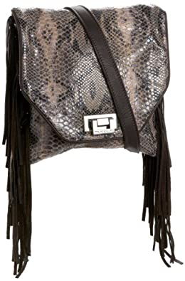 Tylie Malibu Women's Jetset Kramer JSK1507 Fringe Cross Body Bag,Slate,One Size