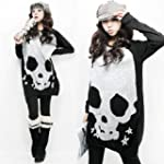 niceeshop(TM) Woman Long Sleeve Skull...