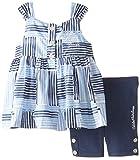 Calvin Klein Baby Girls' Printed Dress with Navy Bermuda Short Set