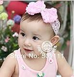 【輸入雑貨 ラピスラズリ】Baby ベビー用ヘアバンド ヘアアクセサリー 子供用【髪飾り】【バンド】伸縮性がある 赤ちゃんに最適!ピンク&ホワイト