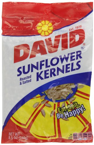 David Seeds Sunflower Kernels, 8.5-Ounce Packages (Pack Of 12)