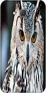 Snoogg Owl Close Up Portrait Designer Protective Back Case Cover For Samsung J7