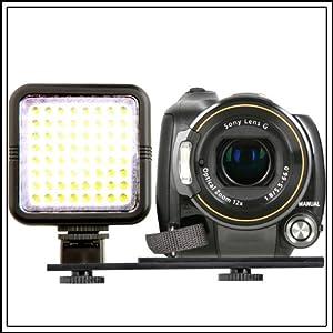 64-LED Video Camera Light for Canon EOS 100D 550D 600D 650D,700D 1100D,1200D,70D 60D,50D,40D,7D,6D,5D,SX50,SX500,SX510 SX520 Nikon P520,D7100,D7000,D5300 D5200,D5100,D5000,D3100,D3200,D3300,L830 L820,FUJI FinePix S6800,S8600,HS50 HS30 SL1000 X-S1,OLYMPUS SP800,E30,E3,E5,Pentax K5,K30,K50,K500,Panasonic FZ72 FZ62 FZ200 DSLR/SLR & Camcorders.