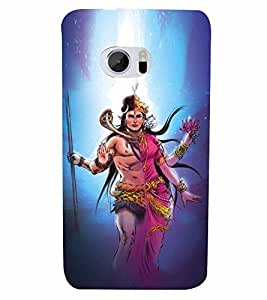 Lord Shiva Parvati Cute Fashion 3D Hard Polycarbonate Designer Back Case Cover for HTC 10 :: HTC One M10