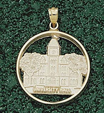 Ohio State Buckeyes University Hall Pendant - 14KT Gold Jewelry by Logo Art