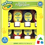 Crayola Washable Finger Paints, 8-Count ( 3 ounce no-drip tubes ), Red, Blue, Yellow, Green, Orange, Purple, Lime Green And Teal