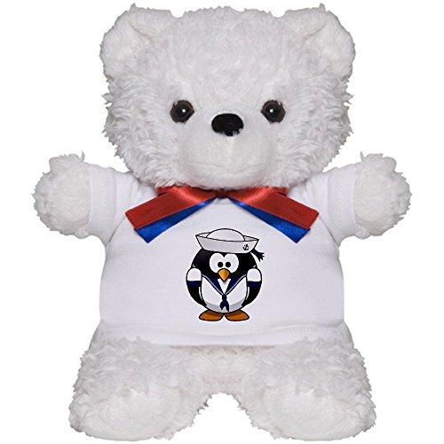 Teddy Bear White Little Round Penguin - Navy Sailor