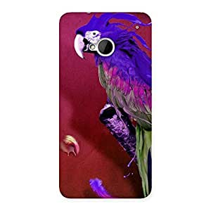 Stylish Magic Parrot Multicolor Back Case Cover for HTC One M7