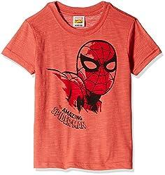 Fox Boys' T-Shirt  (Brick Melange_6 years_337404)