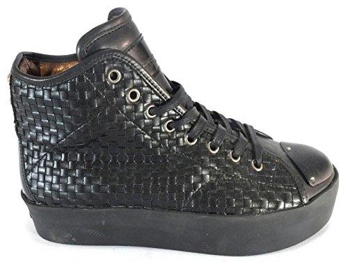 Sneaker Alexander Smith 2017 - Scarpa in pelle alta nera con lacci