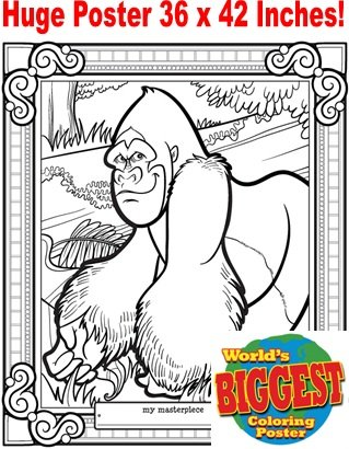 Just For Laughs World's Biggest Coloring Posters- Gorilla