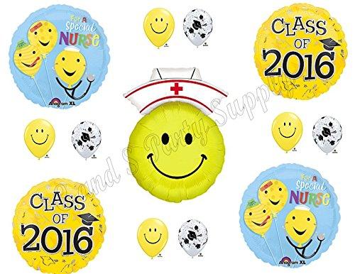 Class of 2016 Nursing Graduation Pinning Celebration Balloon Decorations Supplies Bouquet kit (Nurse Party Decorations)