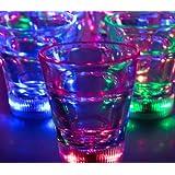 Light Up Multicolor LED Shot Glass Lite Cubes(Quantity=3)