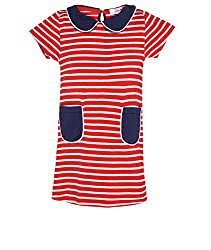 Chipchop Girls' Dress (WFGD0039R_Red_6-7 Years)