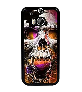PrintDhaba Skull D-2801 Back Case Cover for HTC ONE M8 (Multi-Coloured)