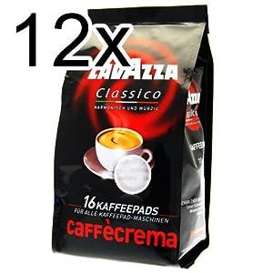 Lavazza Caffè Crema Classico, Pack of 12, 12 x 16 Coffee Pods