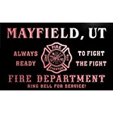 qy67908-r FIRE DEPT MAYFIELD, UT UTAH Firefighter Neon Sign Barlicht Neonlicht Lichtwerbung