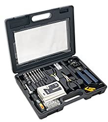 Syba 50 Piece Computer Network Installation Tool Kit with Multi-Module Cable Tester