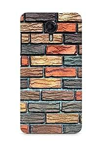 Amez designer printed 3d premium high quality back case cover for Micromax Canvas Xpress 2 E313 (Bricks texture)