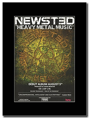 T-Shirt dei Metallica, Jason Newsted-Heavy Metal Music Magazine Promo su un supporto, colore: nero
