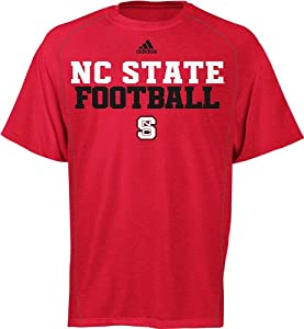 Buy adidas North Carolina State Wolfpack Football Red ClimaLITE T-Shirt by adidas