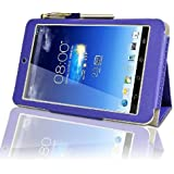 Asus MeMo Pad HD 7 HD7 (ME173X) Multi-Angle 'Pen' Case with 2 in 1 Stylus / Biro Pen by LuvTab® (Purple)