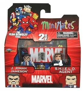Marvel Minimates Series 43 The Jean Dewolff Saga J. Jonah Jameson & S.H.I.E.L.D. Agent
