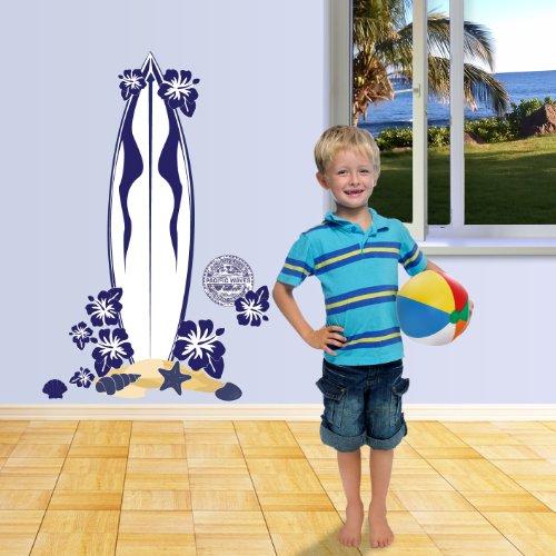 Mona Melisa Designs, Big Peel and Stick Decal, Surfboard, Blue