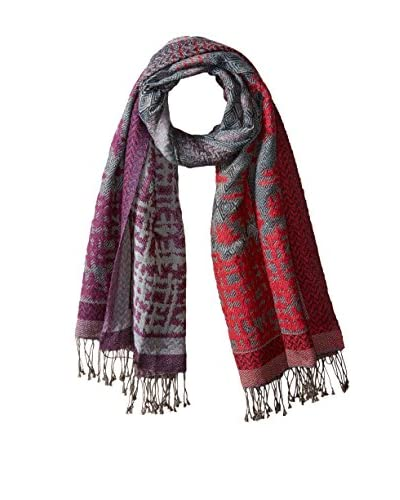 Saachi Women's Sketch Scarf, Fuchsia/Purple