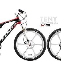 "26"" Mountain Bike Disc Wheelset For Sram Shimano 8 9 10 Speed White"