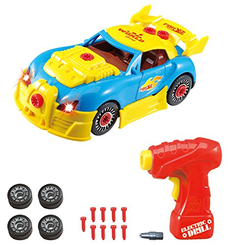 Take Apart Toy Racing Car Construction Toy Kit For Kids