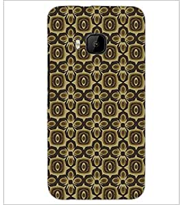 PrintDhaba Pattern D-5444 Back Case Cover for HTC ONE M9 (Multi-Coloured)