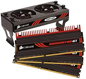 Corsair Dominator GT 6 GB PC3-12800 1600 Mhz Triple Channel Core i7 DDR3 CAS 7 Memory Kit CMT6GX3M3A1600C7