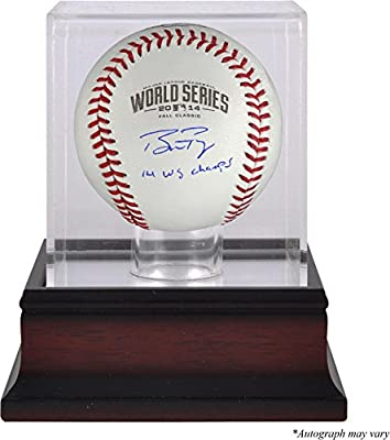 Buster Posey San Francisco Giants Autographed 2014 World Series Baseball with 14 WS Champs Inscription and Mahogany Baseball Display Case - Fanatics Authentic Certified