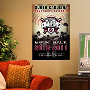 "South Carolina Gamecocks 2011 NCAA Men's College World Series Champions 24"" x 36"" Poster ()"