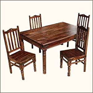 grogan 4 seater solid wood dining table