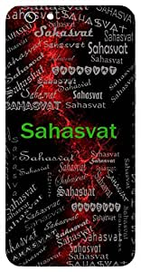 Sahasvat (Full Of Valour; Victorious) Name & Sign Printed All over customize & Personalized!! Protective back cover for your Smart Phone : Samsung Galaxy E5