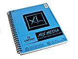 "Canson XL Mix Media Pad,9""X12"" Side Wire"