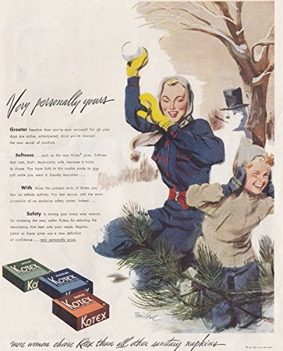 1949 Kotex: Very Personally Yours, Snowball, Kotex Print Ad (Very Personally Yours compare prices)
