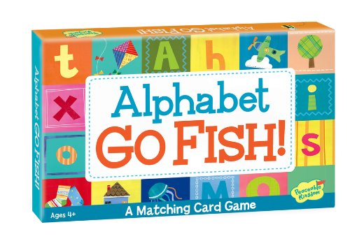 Peaceable kingdom press alphabet go fish matching card game for Go fish instructions